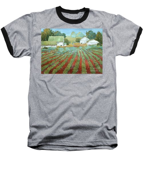 White Barns In Virginia Baseball T-Shirt
