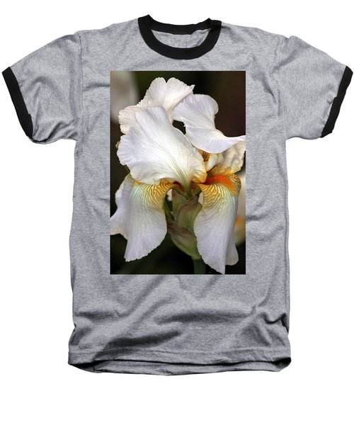 Baseball T-Shirt featuring the photograph White Bearded Iris by Sheila Brown