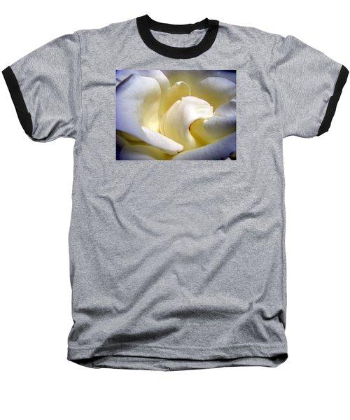 White Beauty Rose Baseball T-Shirt
