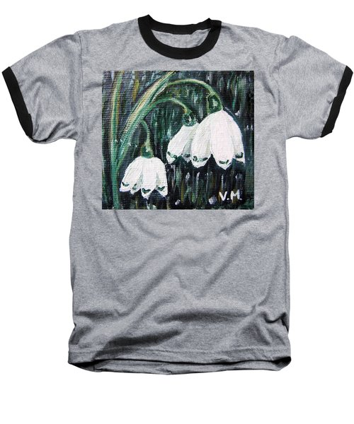 White Bells Baseball T-Shirt by Vesna Martinjak