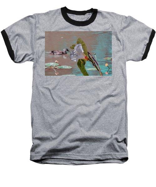 White Bindweed And Mandarin Duck Mix #g5 Baseball T-Shirt