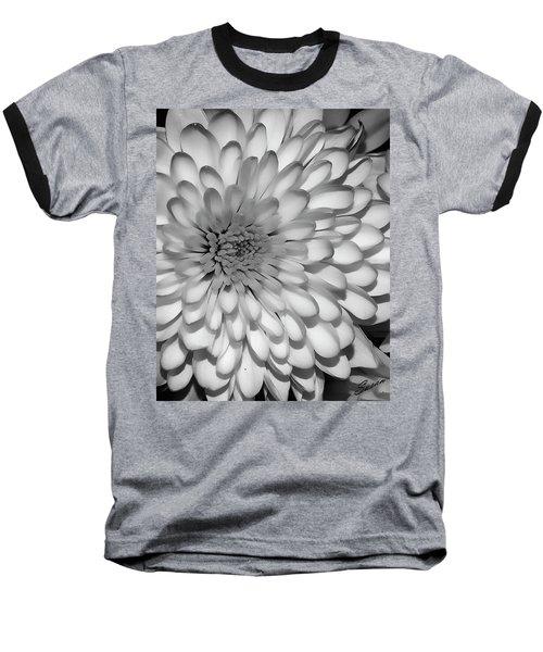 White Bloom Baseball T-Shirt