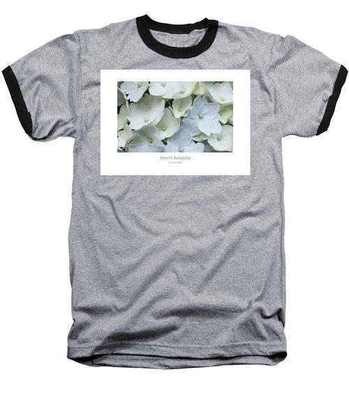 White Blossom Baseball T-Shirt