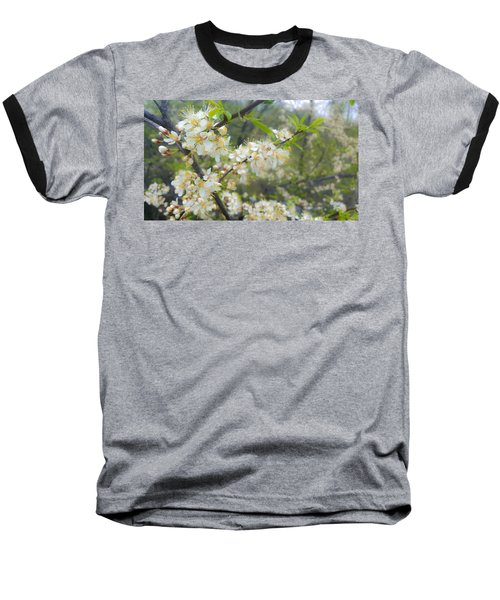White Blossoms On Fruit Tree Baseball T-Shirt