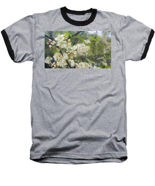 White Blossoms On Fruit Tree Baseball T-Shirt