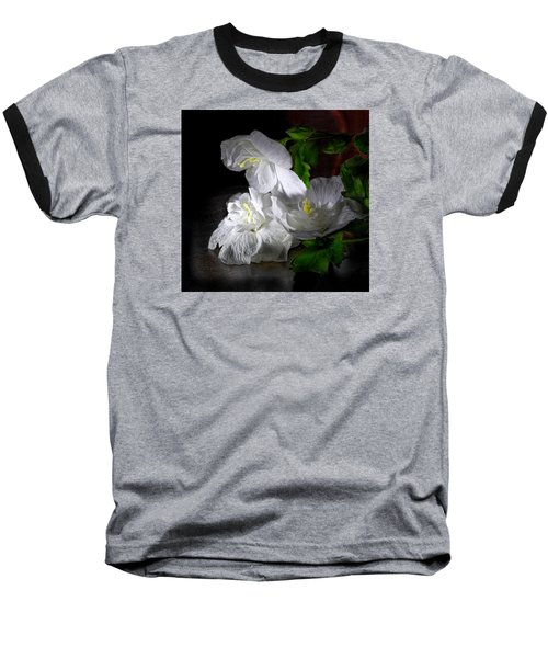 White Blossoms Baseball T-Shirt