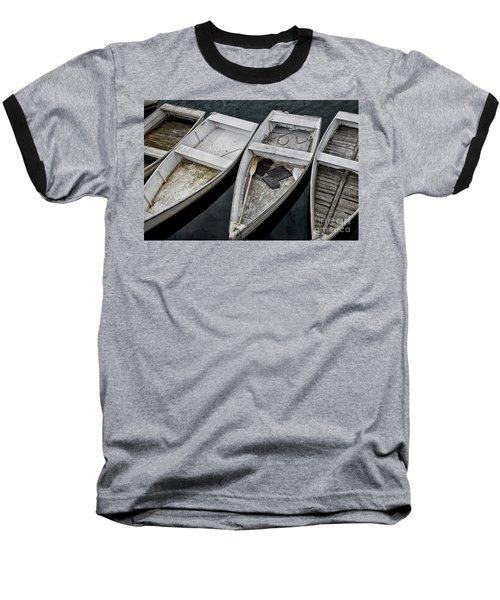 White Boats Baseball T-Shirt