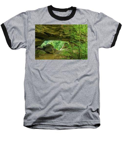 White Branch Arch Baseball T-Shirt by Ulrich Burkhalter