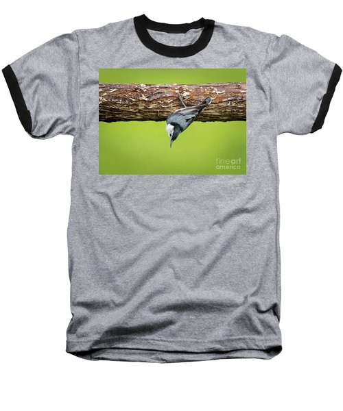 Baseball T-Shirt featuring the photograph White-breasted Nuthatches by Ricky L Jones