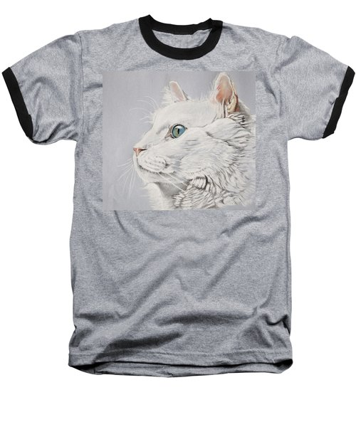 White Cat Baseball T-Shirt