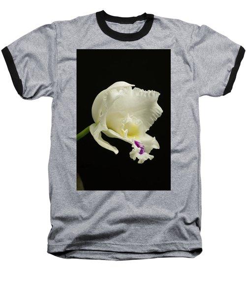 White Cattleya Orchid  Baseball T-Shirt