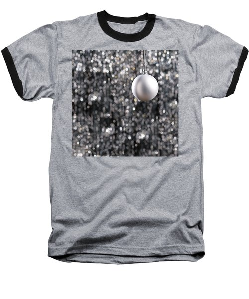 Baseball T-Shirt featuring the photograph White Christmas Bauble  by Ulrich Schade