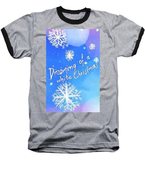 White Christmas  Baseball T-Shirt