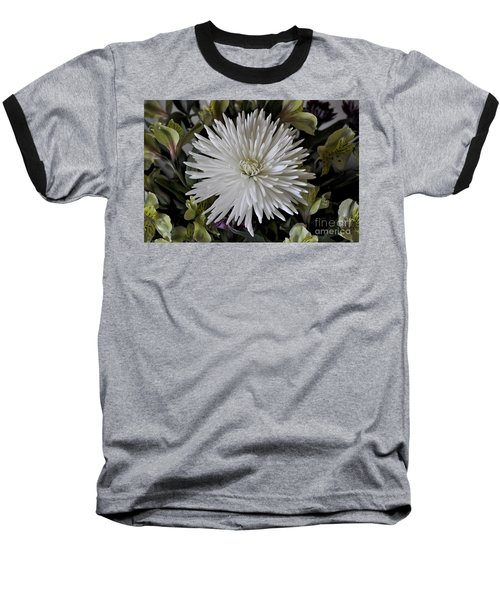 White Chrysanthemum Baseball T-Shirt
