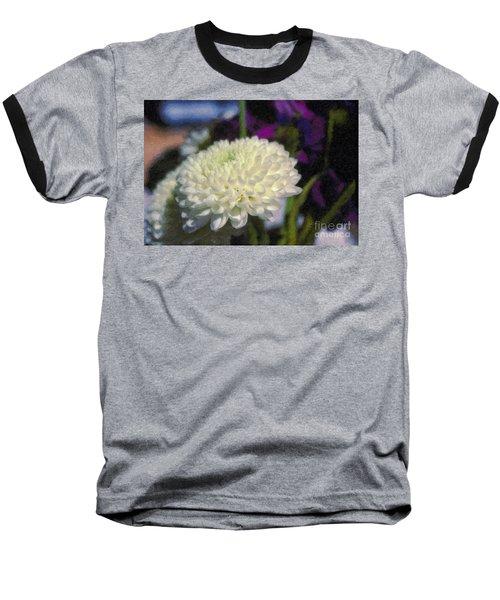 Baseball T-Shirt featuring the photograph White Chrysanthemum Flower by David Zanzinger