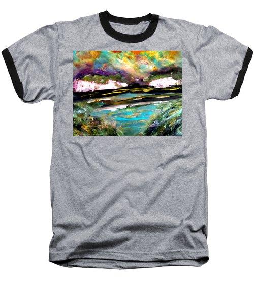 White Cliffs At Sunset Baseball T-Shirt