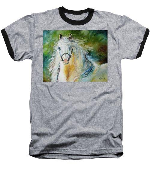 White Cloud The Andalusian Stallion Baseball T-Shirt