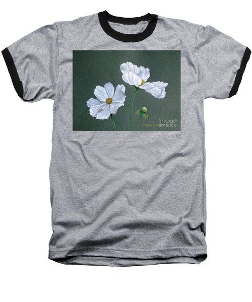 White Cosmos Baseball T-Shirt