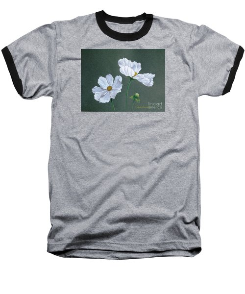 White Cosmos Baseball T-Shirt