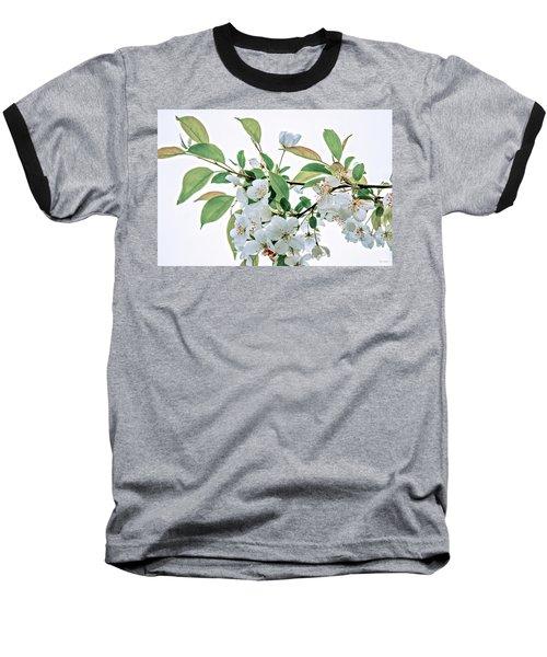 White Crabapple Blossoms Baseball T-Shirt