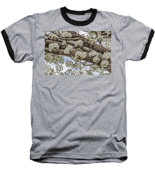 Baseball T-Shirt featuring the photograph White Crabapple Blossoms by Sue Smith