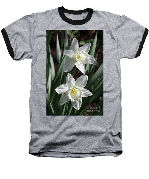 White Daffodils #2 Baseball T-Shirt