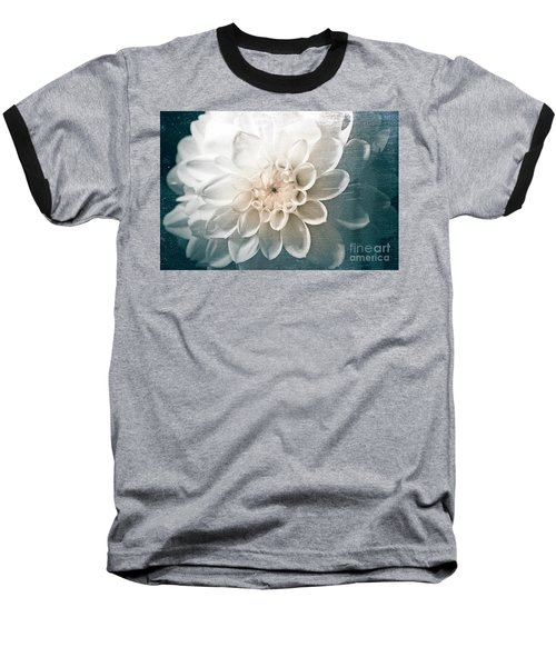 White Dahlia Baseball T-Shirt