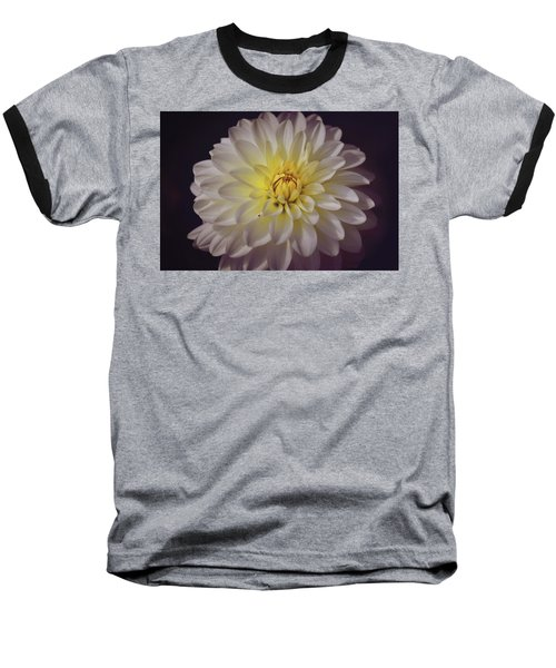 White Dahlia Baseball T-Shirt