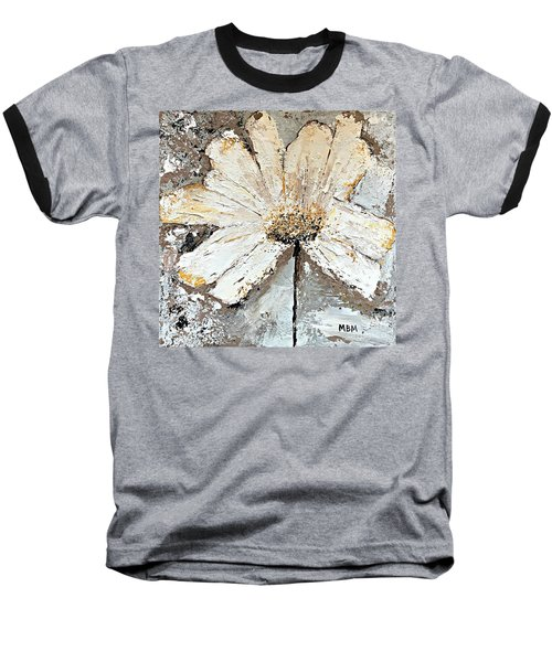White Daisy Baseball T-Shirt