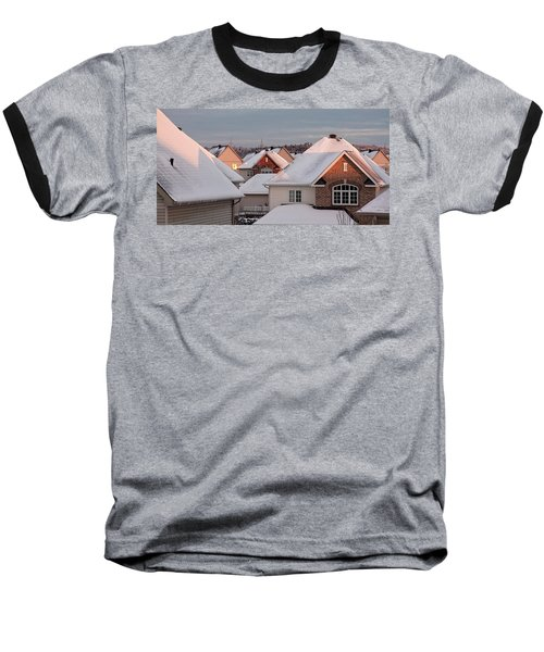 White December Rooftops Baseball T-Shirt
