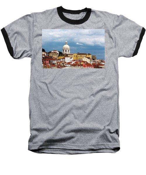White Dome Against Blue Sky Baseball T-Shirt