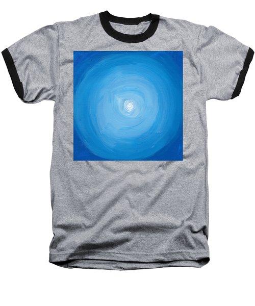 White Dot In Sea Of Blue Baseball T-Shirt