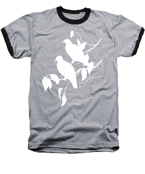 White Doves Baseball T-Shirt by The one eyed Raven