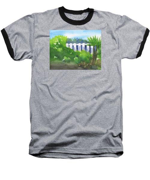 White Fence  Baseball T-Shirt