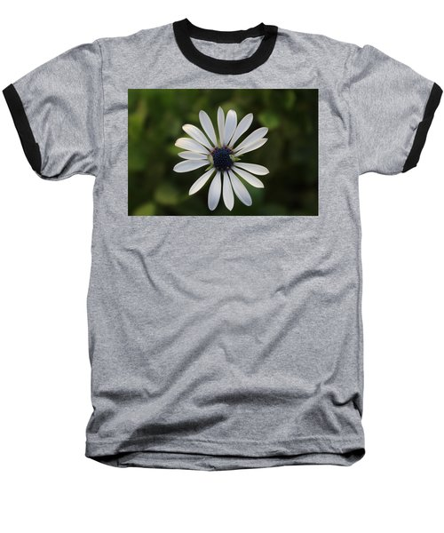 White Flower Baseball T-Shirt