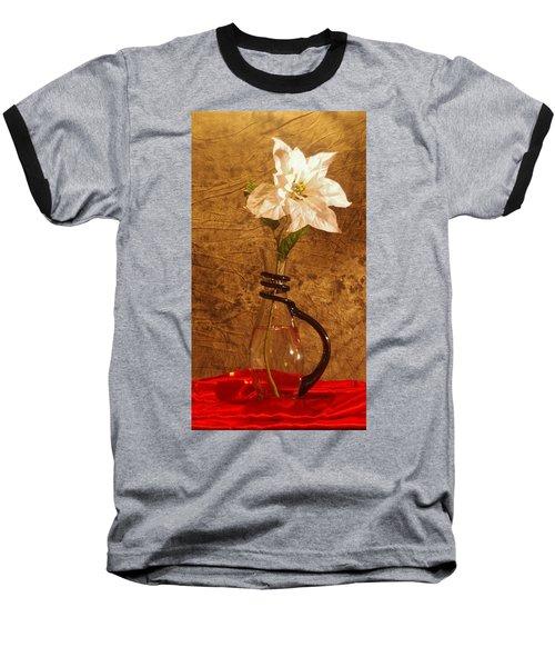 White Flower Baseball T-Shirt