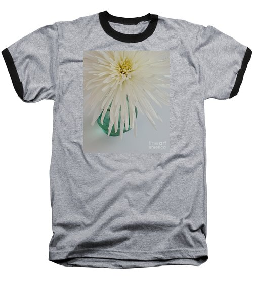 White Flower In A Vase By Jasna Gopic Baseball T-Shirt by Jasna Gopic