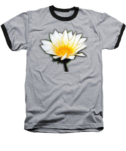 White Flower T-shirt Baseball T-Shirt