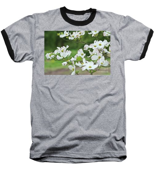 White Flowering Dogwood Baseball T-Shirt