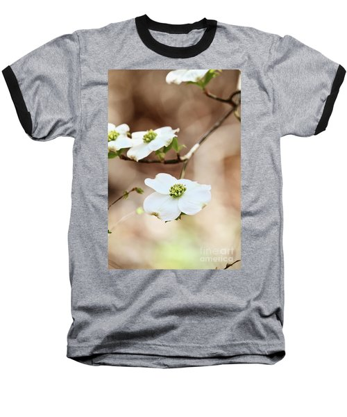 Baseball T-Shirt featuring the photograph White Flowering Dogwood Tree Blossom by Stephanie Frey