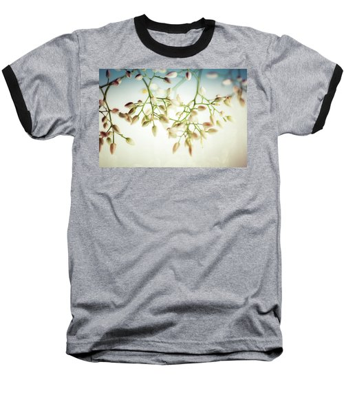 Baseball T-Shirt featuring the photograph White Flowers by Bobby Villapando