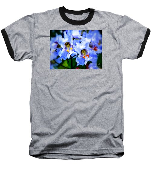 White Flowers Baseball T-Shirt