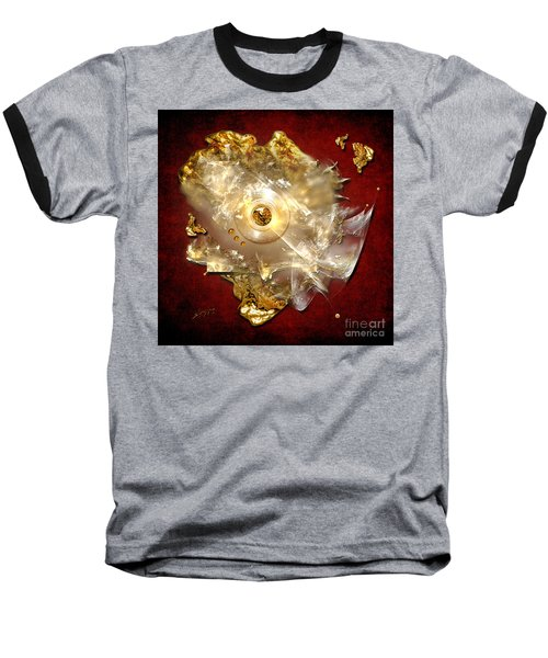 Baseball T-Shirt featuring the painting White Gold by Alexa Szlavics