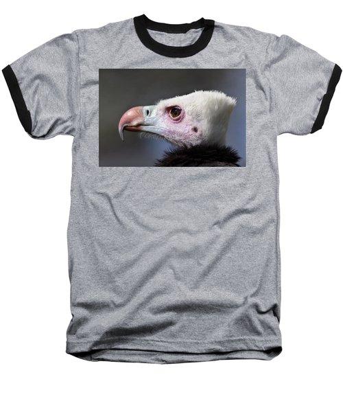 White-headed Vulture Portrait Baseball T-Shirt by Aivar Mikko