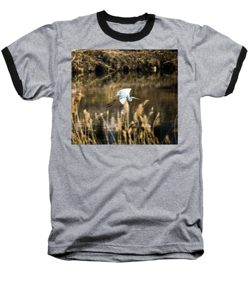 White Heron Baseball T-Shirt