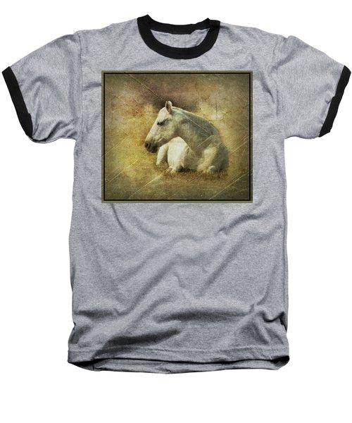 White Horse Art Baseball T-Shirt