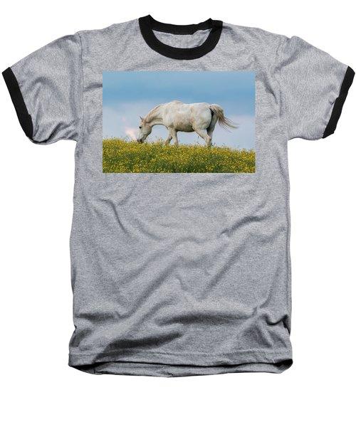 White Horse Of Cataloochee Ranch 2 - May 30 2017 Baseball T-Shirt