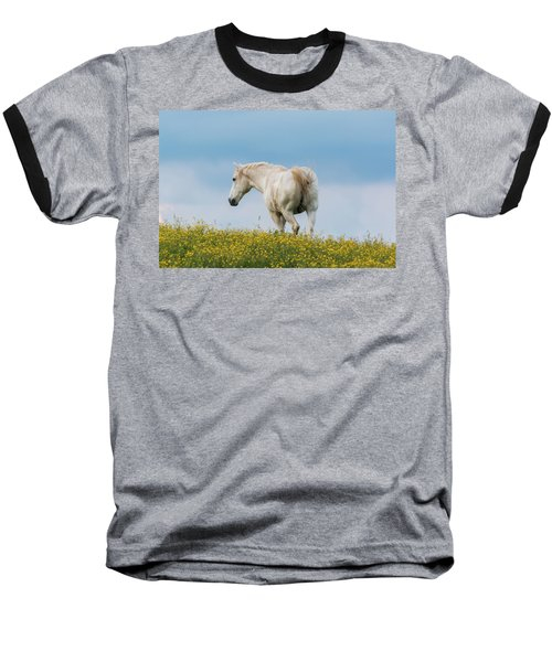White Horse Of Cataloochee Ranch - May 30 2017 Baseball T-Shirt