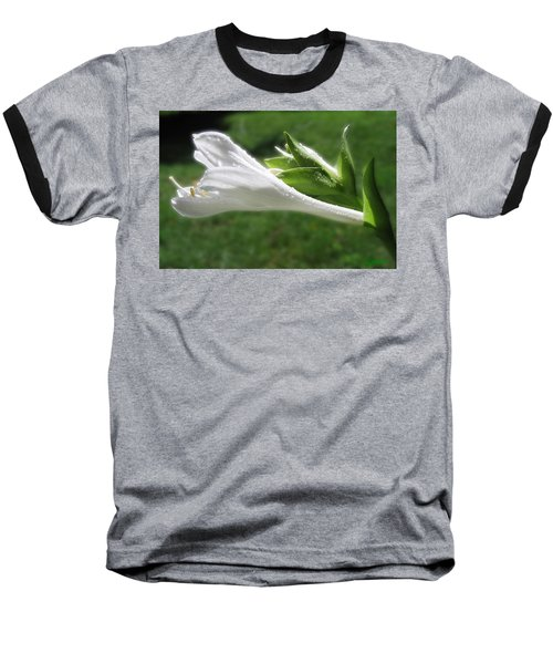Baseball T-Shirt featuring the photograph White Hosta Flower 46 by Maciek Froncisz