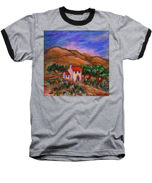 Baseball T-Shirt featuring the painting White House In An Oak Grove by Xueling Zou